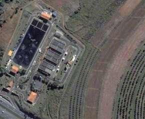 Estação de tratamento de esgoto em Piracicaba. Quanto mais perto da lavoura, melhor o aproveitamento