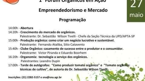 Programação do Fórum Orgânico