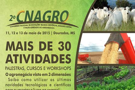 Agricultura e pecuária orgânica serão destaques no Cnagro em MS