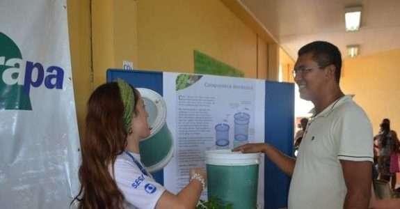 Embrapa ensina a produzir adubo com lixo orgânico na Ação Global