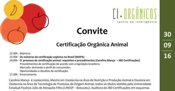 Certificação orgânica animal, no RJ