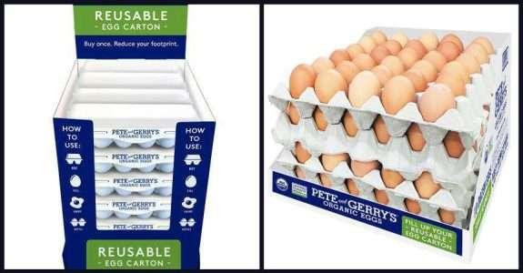 Granja inova ao lançar caixas de ovos reutilizáveis